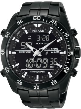 Pulsar Men's Stainless Steel Analog & Digital Chronograph Watch - PW6011