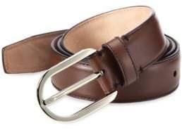 Bally Calf Leather & Metal Belt