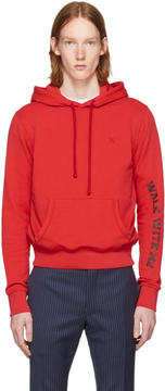 Raf Simons Red Walk With Me Slim Fit Hoodie