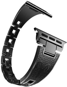 Hermes Moretek for Apple Watch Nike+ Edition, Stainless Steel Metal Replacement Watchband Bracelet Bands for Apple iWatch Smartwatch(38mm Black)