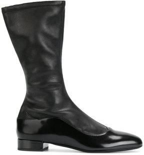 Giorgio Armani side zip boots