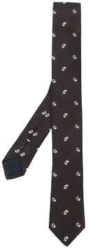 Eleventy paisley print tie