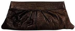 Lauren Merkin Lauren MerkinBrown Embossed Clutch