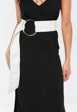 Missguided White Large Ring Detail Belt