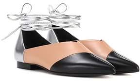 Pierre Hardy Cut leather ballerinas