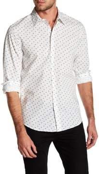 Perry Ellis Stretch Fit Paisley Patterned Shirt