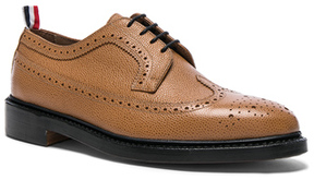 Thom Browne Classic Longwing Brogues in Brown.