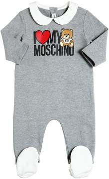 Moschino Bear Printed Cotton Romper