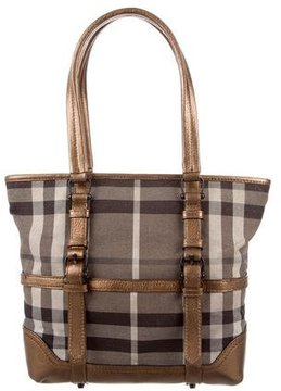 Burberry Smoked Check Canvas Tote - GREY - STYLE