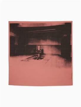Calvin Klein large cotton electric chair bandana