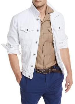 Brunello Cucinelli Denim Jacket w/ Front Pockets