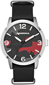 Arizona Mens Black Strap Watch-Fmdarz529