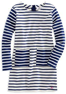 Vineyard Vines Girls' Mixed Stripes Shift Dress - Big Kid
