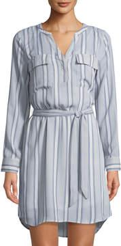 Dex Retro Stripe Long-Sleeve Dress