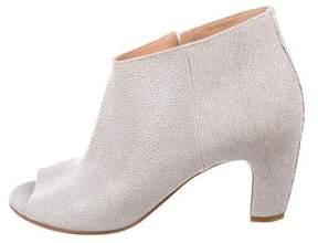 Maison Margiela Embossed Peep-Toe Ankle Boots