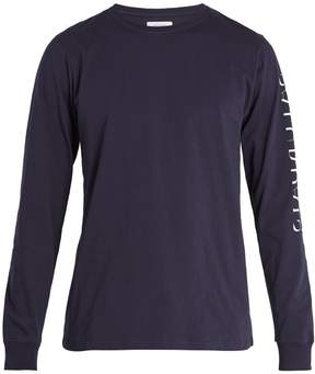 Saturdays NYC Strikethrough long-sleeved cotton T-shirt