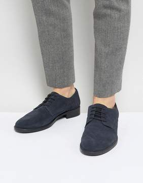 Frank Wright Lace Up In Navy Suede