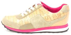 Cole Haan Womens Snowsam Low Top Lace Up Green/Brown Snake/Pink/White