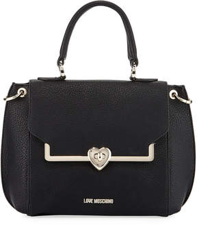 Love Moschino Faux-Leather Satchel Bag