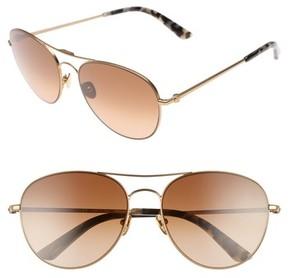 Calvin Klein Women's 57Mm Aviator Sunglasses - Satin Gold