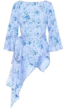 Carolina Herrera Floral-printed cotton blouse