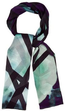 Elie Saab Silk Abstract Scarf