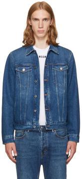 Givenchy Blue Denim Back Logo Jacket