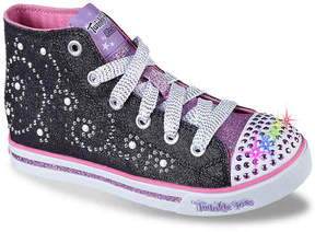 Skechers Girls Pearly Girl Toddler & Youth High-Top Light-Up Sneaker