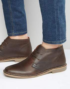 Red Tape Desert Boots In Brown Leather