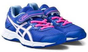 Asics Purple and White Kids Pre-Galaxy 9 Running Trainers