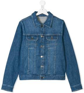 Zadig & Voltaire Kids TEEN printed denim jacket