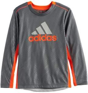 adidas Boys 4-7x Mesh High Low Tee