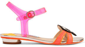 Sophia Webster Wifey For Lifey Vinyl And Patent-leather Sandals - Pink