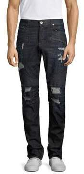 Hudson Blinder Biker Skinny Destructed Jeans
