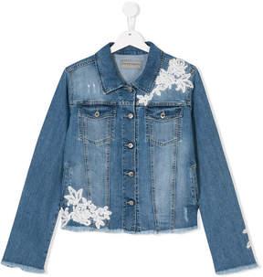 Ermanno Scervino floral embroidered denim jacket
