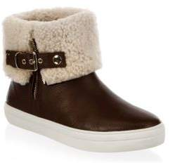Burberry Skillman Shearling-Lined Leather Booties