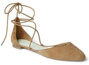 Gap Suede lace-up d'Orsay flats