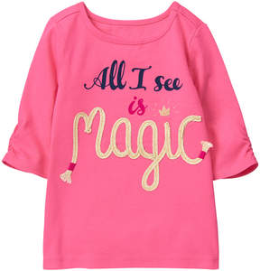 Gymboree Pink 'All I See Is Magic' Graphic Tee - Infant