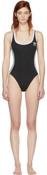 adidas Black 3-Stripes Bodysuit