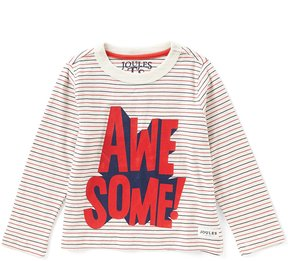 Joules Little Boys 3-6 Long-Sleeve Awesome Striped Tee