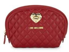 Love Moschino Quilted Zip Pouch