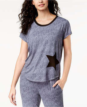 Lush Ande Luxe Mesh-Star Pajama Top