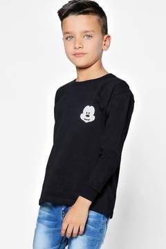 boohoo Boys Disney Mickey Long Sleeve Top