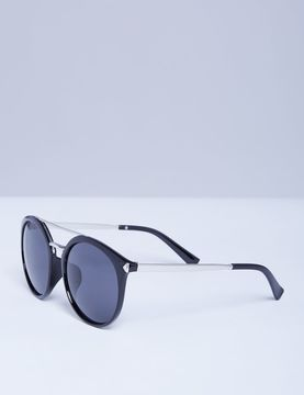 Lane Bryant Black Sunglasses with Silver Tone Detail