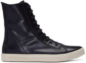 Rick Owens Black Mastadon High-Top Sneakers