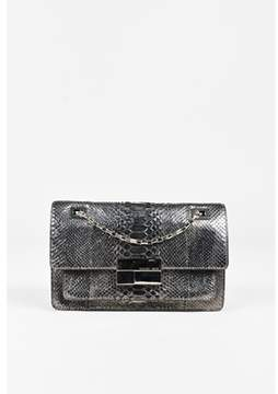 Michael Kors Pre-owned Metallic Pewter Grey Python Flap Shoulder Bag. - GRAY;METALLIC - STYLE