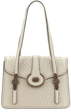 Bottega Veneta Double-Handle Intrecciato Shoulder Bag