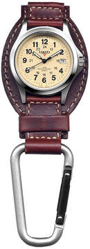 Dakota Men's Brown Leather Hanger Field Clip Watch 35508