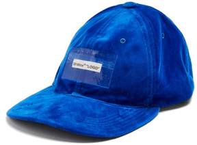 Off-White Logo-patch velvet cap