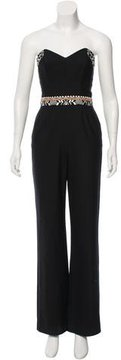 Camilla Embroidered Strapless Jumpsuit w/ Tags